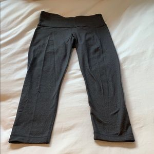 LULULEMON women's grey crop wonder under leggings